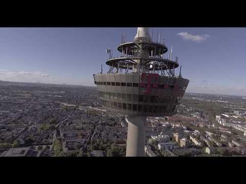 over the tower telecom köln with mavic pro
