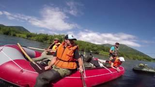 Сплав по реке Быстрая, Камчатка. Рыбалка, медведи.