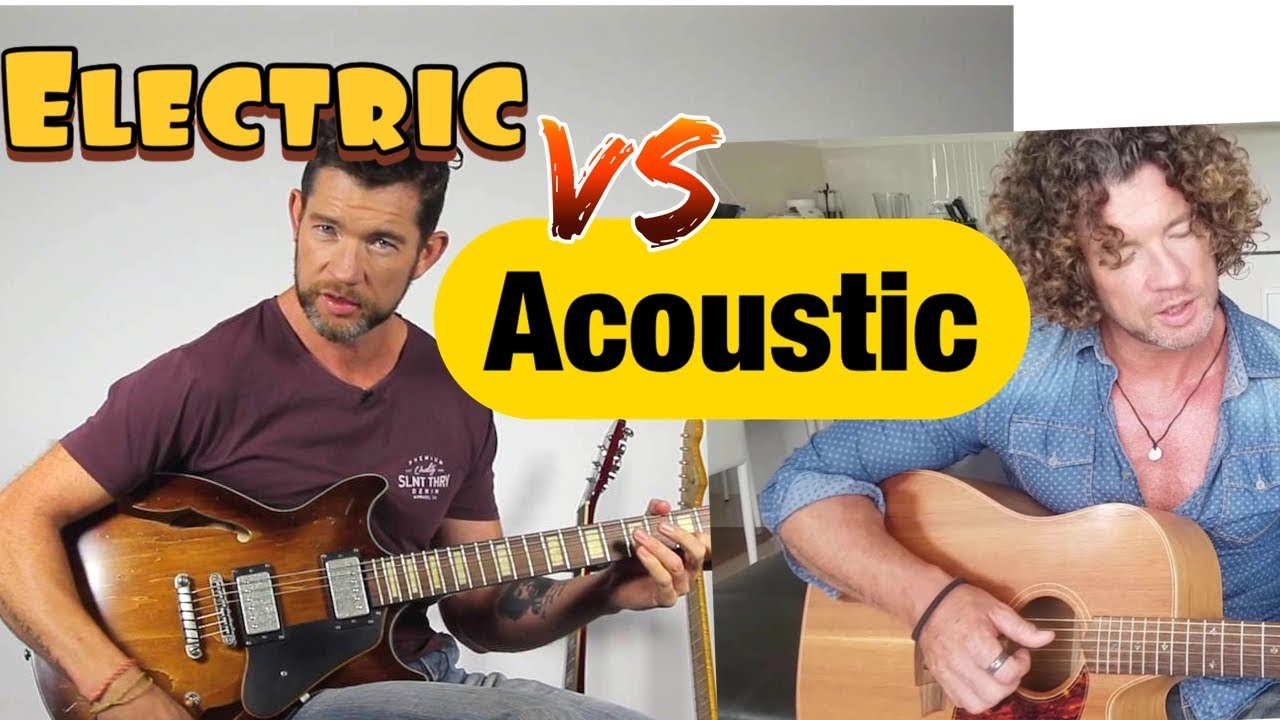 what are the differences between acoustic and electric guitar youtube. Black Bedroom Furniture Sets. Home Design Ideas