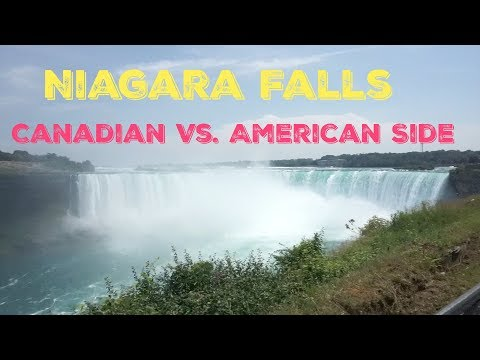 Niagara Falls - Canadian Vs. American Side