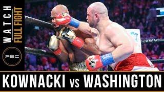 Kownacki vs Washington FULL FIGHT: January 26, 2019 - PBC on FOX