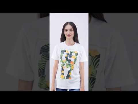 0917 Tropical T-Shirt White Women