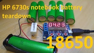 teardown notebook battery and testing sony 18650 cells