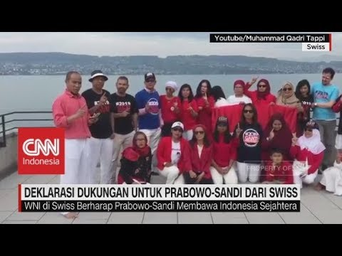 Deklarasi Dukungan Untuk Prabowo-Sandi Dari Swiss