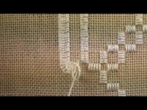 02 Heart Etui - Hardanger -  Blanket Stitches