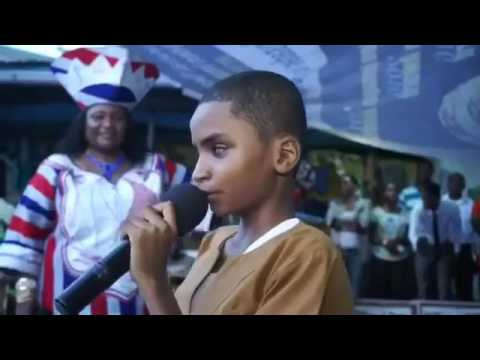 blind Liberian boy sing for flavour