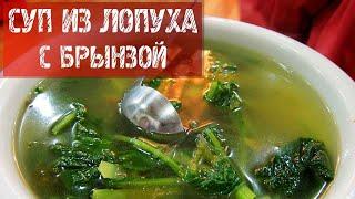 256  Суп из лопуха с брынзой.