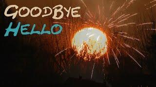 Happy New Year 2020 Goodbye Old Year hello New Year Tschüss altes Jahr hallo neues Jahr 4K