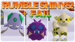 Rumble Shiny Compilation + Shiny Fail for Rumble Weekend 10! Rip Graveler.