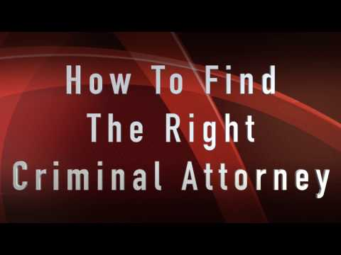 Legal Advice  - How To Find The Right Criminal Attorney - Tom Medrano