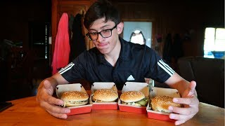 I did the 4 Big Mac challenge (didn't go good)