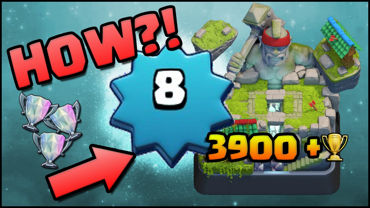 Clash Royale - World's Highest Level 8 Player! 3900+ Trophies! Tips ...