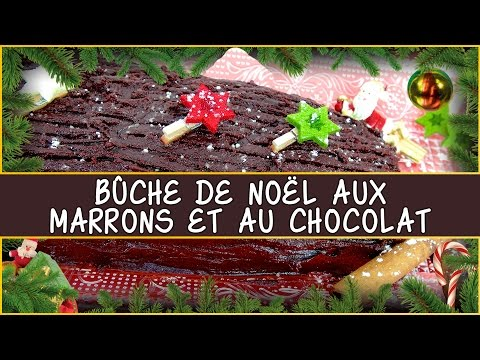 recette-de-la-bûche-de-noël-aux-marrons-et-au-chocolat