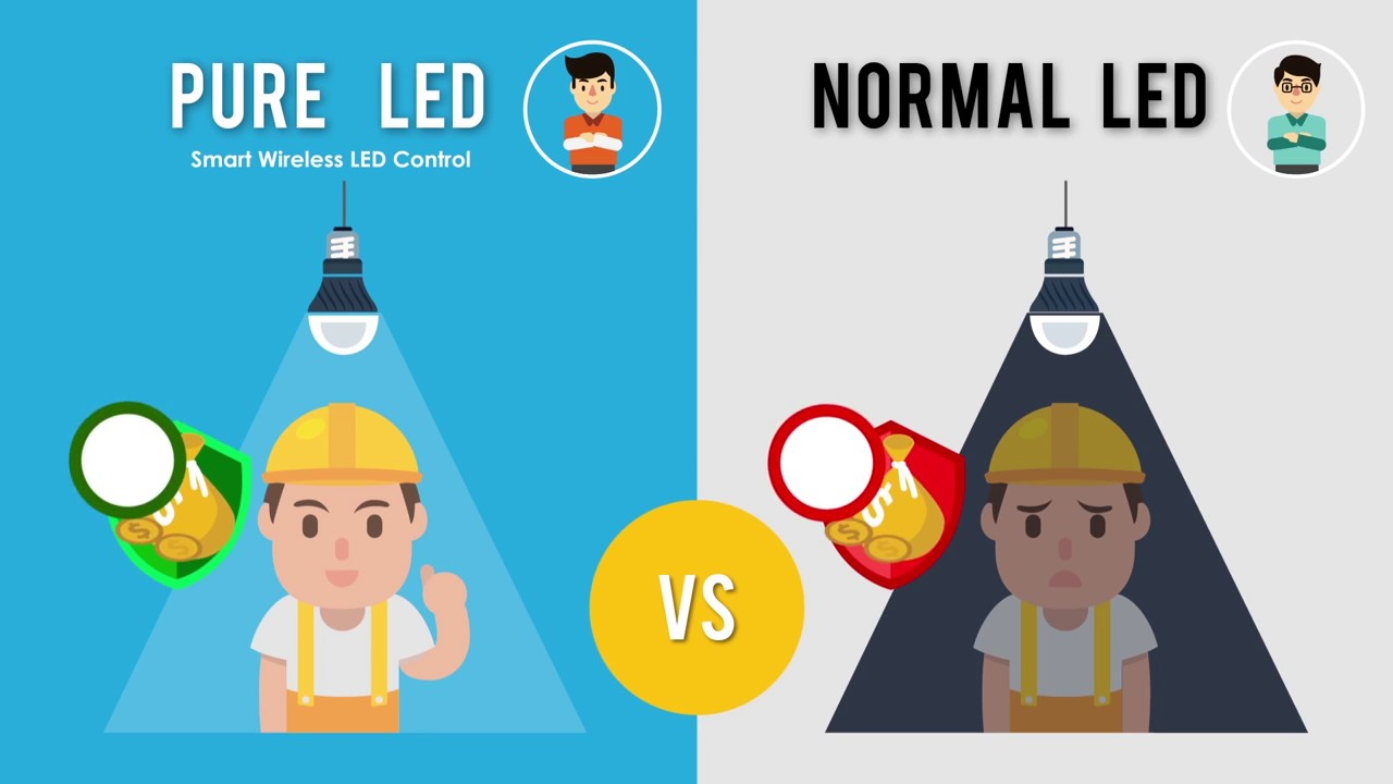 Pure LED wireless network lighting control benefit - YouTube