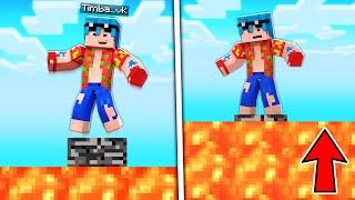 Minecraft PERO la LAVA SUBE cada 10 SEGUNDOS 😱🔥 ¿SOBREVIVIMOS AL DESAFÍO The FLOOR is LAVA?