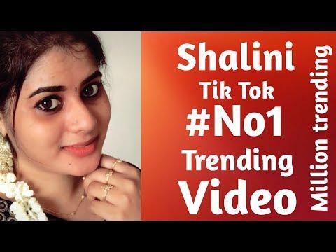 Shalini tik tok no1 trending video's in tamil || shalini