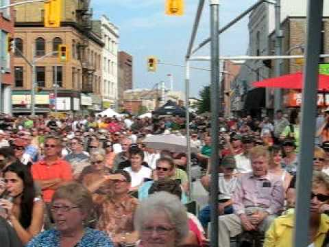 Crowd waiting for Buckwheat Zydeco at 2010 Kitchener Blues Festival