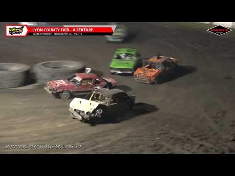 Lyon County Fair Figure 8 Main Features - Rapid Speedway - 7/24/19