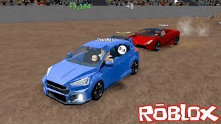 All Cars Are Chasing Us! - Roblox Car Crushers with Panda 2
