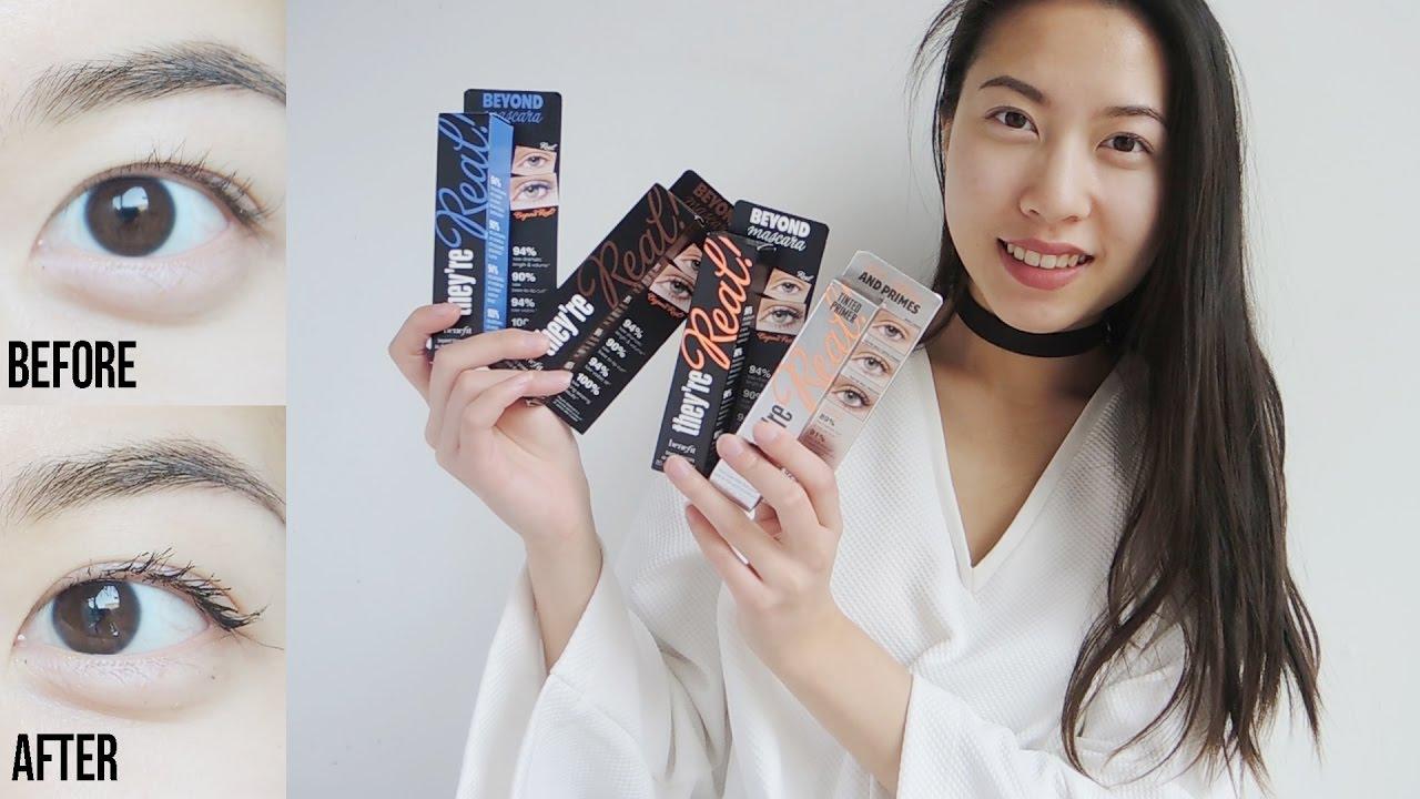 de738311c97 Benefit THEY'RE REAL Mascara + Primer (BLACK BROWN BLUE) | COMPARISON