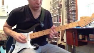 Original 97 Fender Jimi Hendrix voodoo stratocaster demo