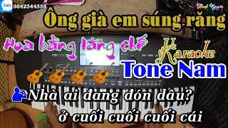 Ông Già Em Súng Răng | Hoa Bằng Lăng Chế | Karaoke | Tone Nam | Style Cha Cha Cha Korg Pa600