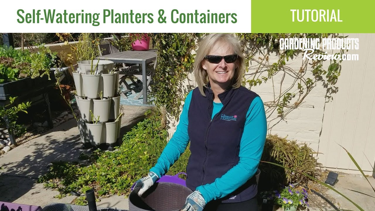 Self Watering Planters How They Work Best Types An Easy Diy Option Youtube