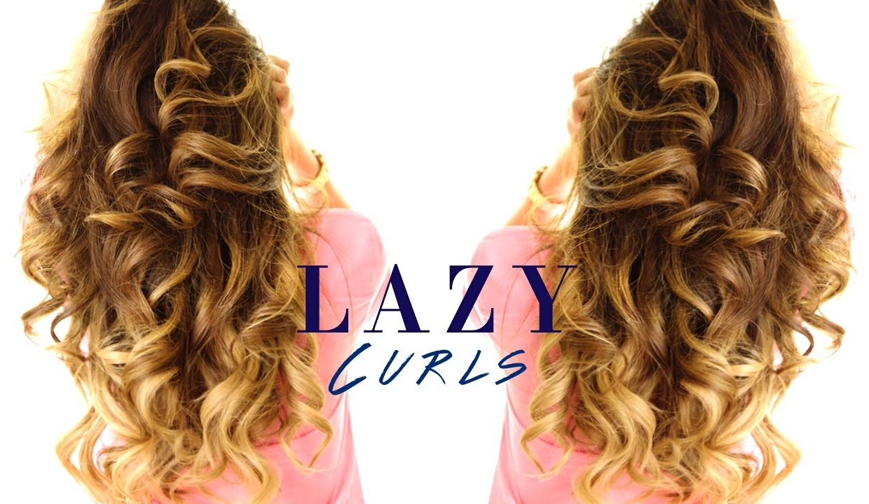 5 minute lazy curls easy waves hairstyles youtube urmus Image collections
