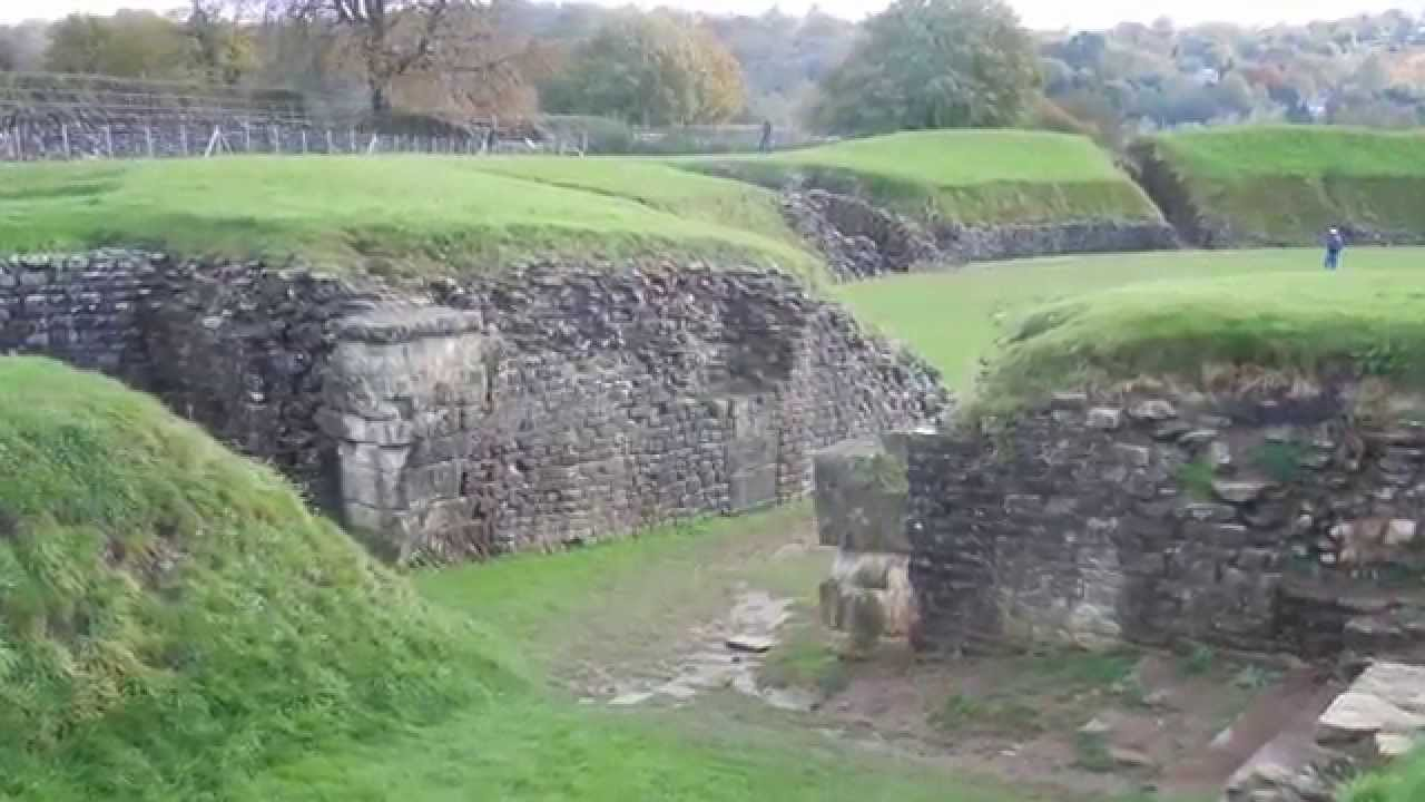 Caerleon Roman Amphitheatre And Baths Gwent South Wales