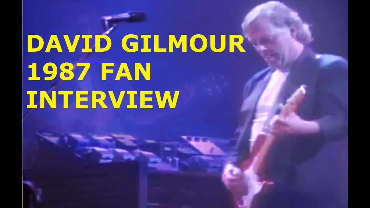 Pink Floyd Fan Audio Interview With David Gilmour 1987