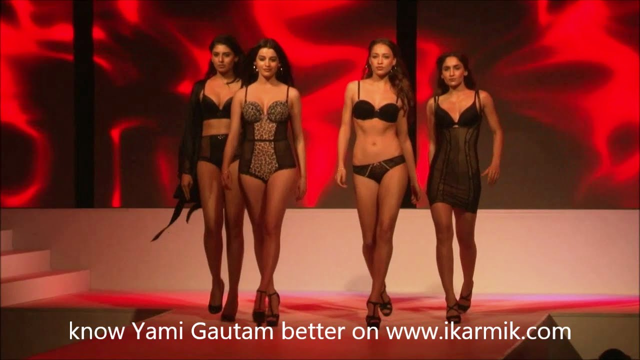 107a81d22 Yami Gautam in Hot Lingerie   Beachwear Fashion show - YouTube