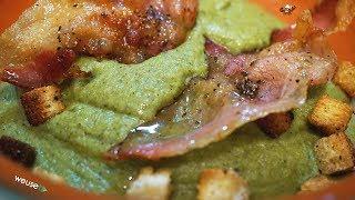 446 - Crema di broccoli e guanciale...veramente ecceziunale! (primo gustoso, facile e veloce)