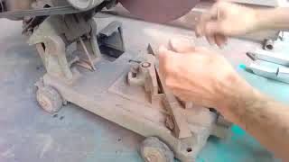 How to adjust the iron cutting machine 90 °, 45 °, 100% accurate stand edge and tips