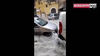 Maltempo  Strade e stadio sott'acqua, paura a Licata