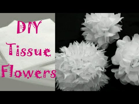 DIY : How to Make Tissue Paper Flowers for Home Decor || Napkin Flowers