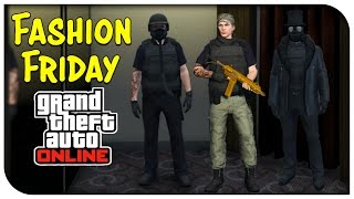 GTA 5 Online - FASHION FRIDAY! (Military Police, Hazmat Cop & Night Stalker) [GTA V]