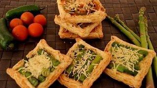 Asparagus Tarts And Tomato And Jalapeno Tarts...!!