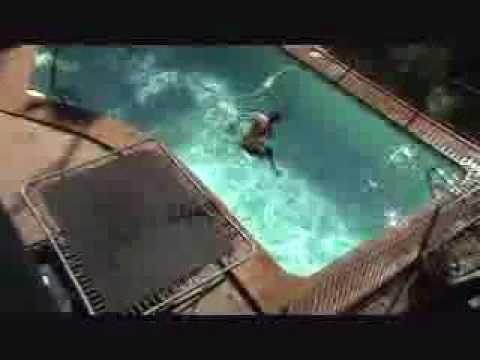 Jumps Flips And Tricks Into Swimming Pool Youtube