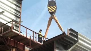 Последний пролет железнодорожного моста на месте