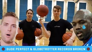 Dude Perfect and Globetrotter Trick Shot World Records Broken WRW Ep. 3