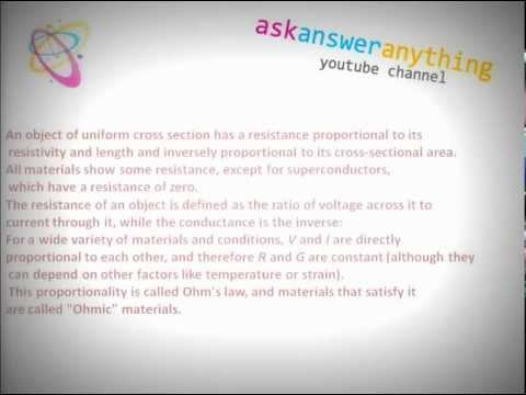 what is resistance, what is resistivity, conductivity.avi