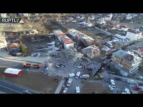 طائرة مسيرة ترصد الدمار الذي خلفه زلزال تركيا  - نشر قبل 57 دقيقة