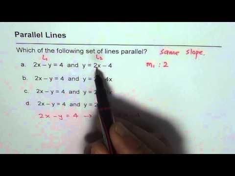 Parallel Lines Multiple Choice Avoid Mistakes