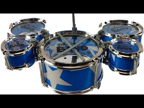 My First Band Mini Drum Set  Toy Unboxing for Kids  Surprise Eggs Kinder Joy for Children