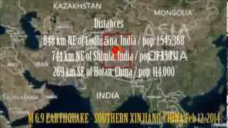 M 6.9 EARTHQUAKE - SOUTHERN XINJIANG, CHINA  Feb 12, 2014