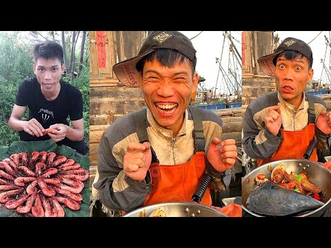 Fishermen eating seafood dinners are too delicious 666 help you stir-fry seafood to broadcast live56