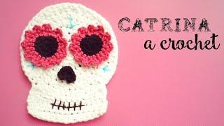 Catrina (calavera mexicana) a Crochet - DÍA DE MUERTOS   How to crochet a mexican skull