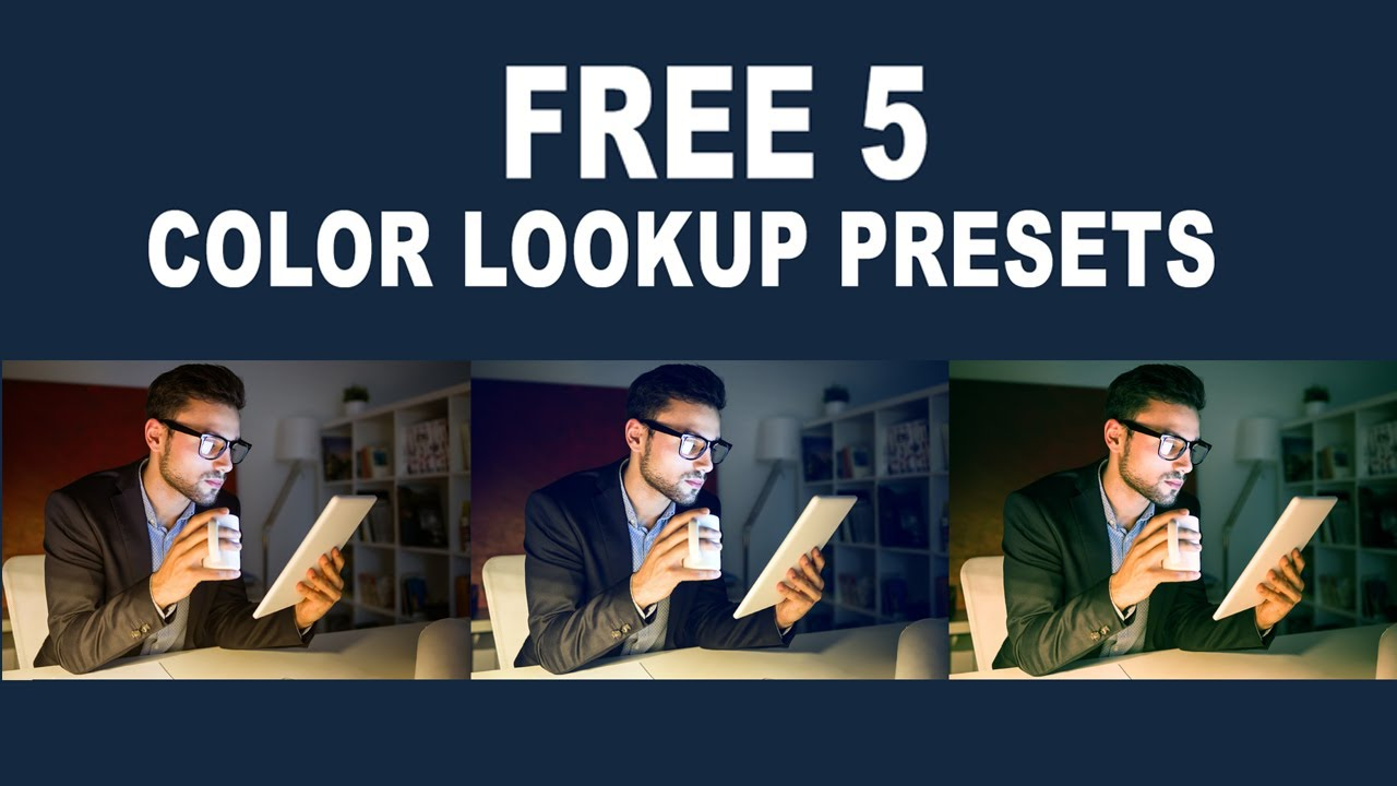 Free 5 Color Lookup Presets for Photoshop CC (Color Grading