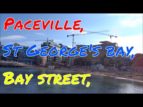 Paceville,  St Georges bay, Bay street, Malta