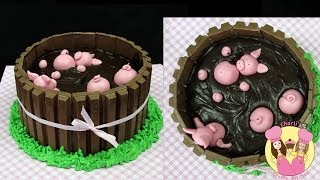 Pigs In Mud Cake!  A Mycupcakeaddiction Collaboration How To